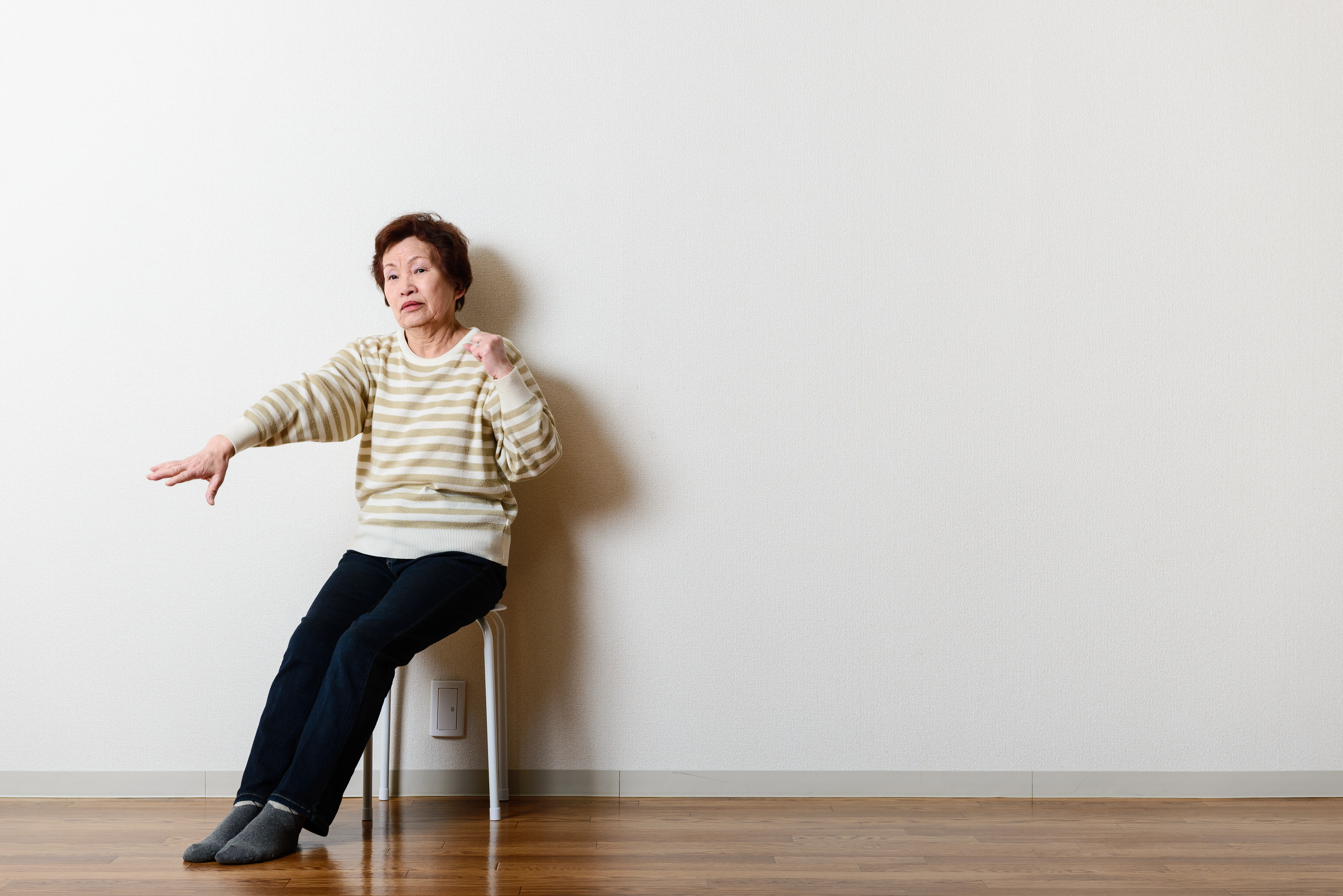 senior at home equipment free workout